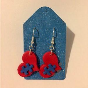 Jewelry - Autism Awareness Heart Earrings